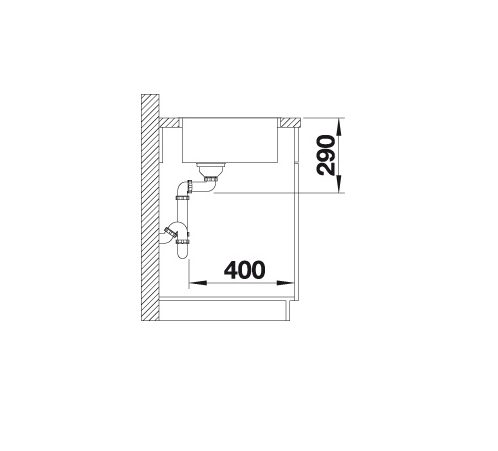 Blanco Andano 450-If 522961 Spoelbak Rvs Vlakbouw Of Opbouw