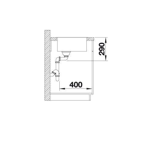 Blanco Andano 400-If 522957 Spoelbak Rvs Vlakbouw Of Opbouw