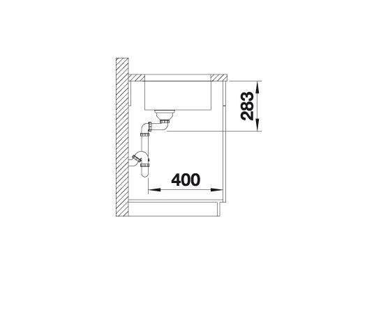 Blanco Supra 500-U 518205 Spoelbak Rvs Onderbouw