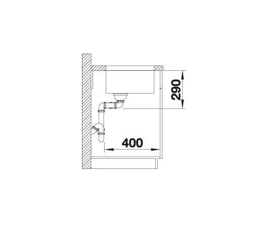 Blanco Andano 400/400-U 522987 Dubbele Spoelbak Rvs Onderbouw