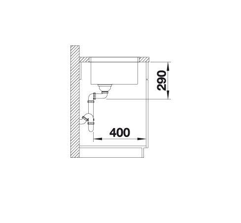 Blanco Andano 450-U 522963 Spoelbak Rvs Onderbouw