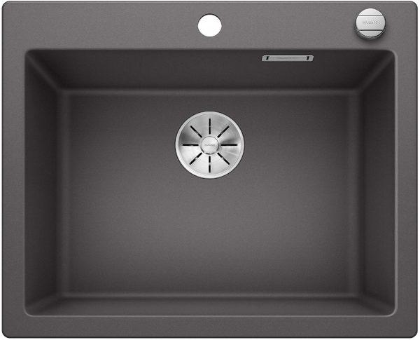Blanco Pleon 523687 Rotsgrijs Spoelbak Silgranit Inclusief Draaiknopbediening Opbouw Of Onderbouw