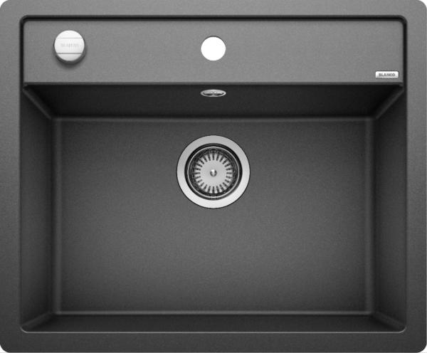 Blanco Dalago 6-F 514773 Spoelbak Silgranit Antraciet Inclusief Draaiknopbediening Vlakbouw Of Onderbouw