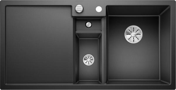 Blanco Collectis 6 S 523344 Spoelbak Rechts Silgranit Antraciet Inclusief Draaiknopbediening Inclusief Accessoires Opbouw