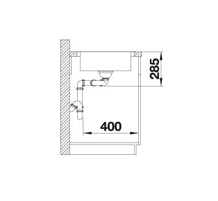 Blanco Lantos 8-If 519711 Dubbele Spoelbak Rvs Inclusief Draaiknopbediening Omkeerbaar Vlakbouw Of Opbouw