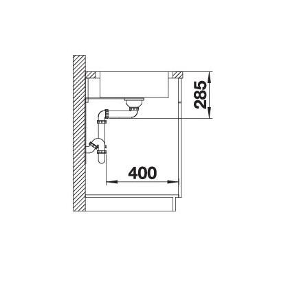 Blanco Lantos Xl 6 S-If Compact 523140 Spoelbak Rvs Omkeerbaar Inclusief Draaiknopbediening Vlakbouw Of Opbouw