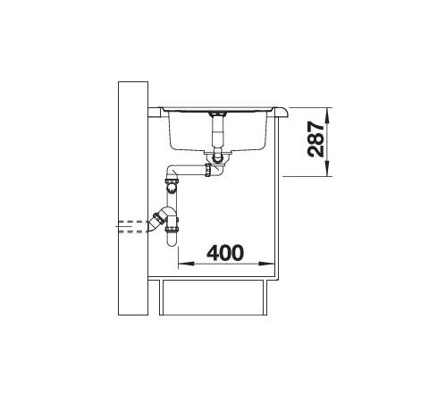 Blanco Classic Pro 45-S-If 523661 Spoelbak Rvs Inclusief Draaiknopbediening Omkeerbaar Vlakbouw Of Opbouw