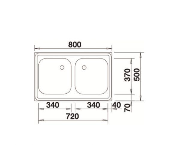 Blanco Z 8 X 5 518219 Rvs Dubbele Spoelbak Opbouw