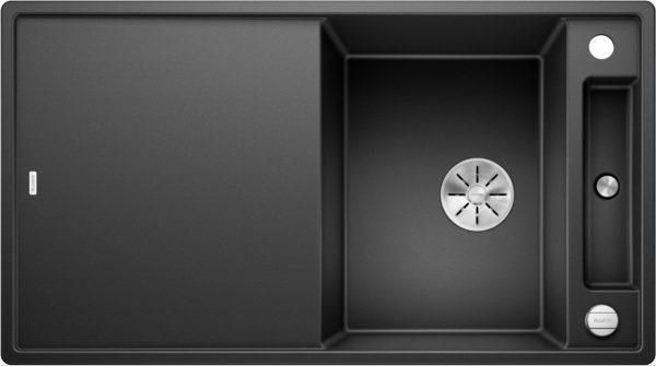 Blanco Axia Iii 5-S 523205 Spoelbak Silgranit Antraciet Inclusief Draaiknopbediening Inclusief Houten Snijplank Omkeerbaar Onderbouw Of Opbouw