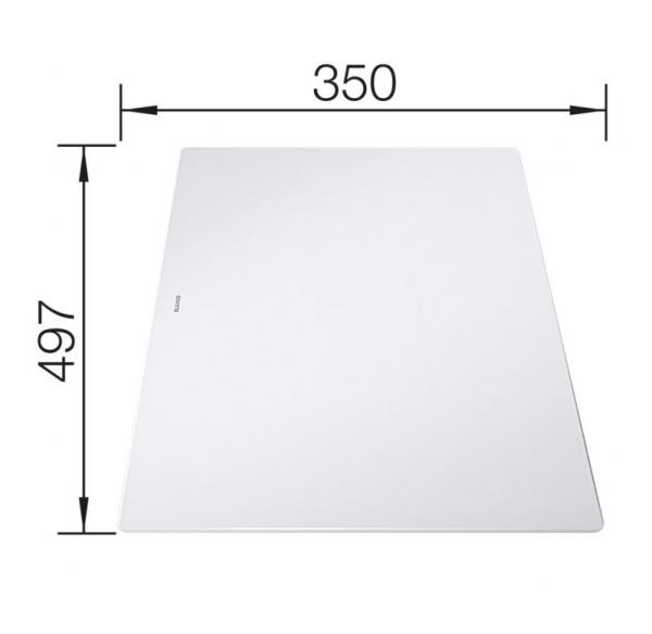 Blanco Axia Iii 45 S-F 523202 Spoelbak Silgranit Wit Inclusief Draaiknopbediening Inclusief Glazen Snijplank Omkeerbaar Vlakbouw Of Onderbouw