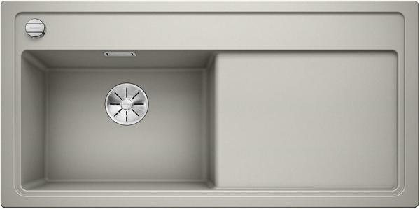 Blanco Zenar Xl 6-S 523977 Parelgrijs Spoelbak Links Silgranit Inclusief Draaiknopbediening Inclusief Snijplank Onderbouw Of Opbouw
