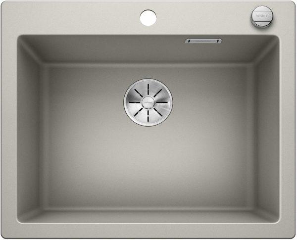 Blanco Pleon 523689 Parelgrijs Spoelbak Silgranit Inclusief Draaiknopbediening Opbouw Of Onderbouw