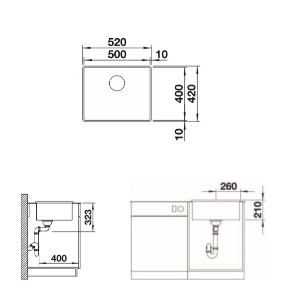 Blanco Attika Xl 60 521598 Rvs Spoelbak Opbouw