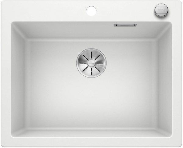 Blanco Pleon 523690 Wit Spoelbak Silgranit Draaiknopbediening Opbouw Of Onderbouw