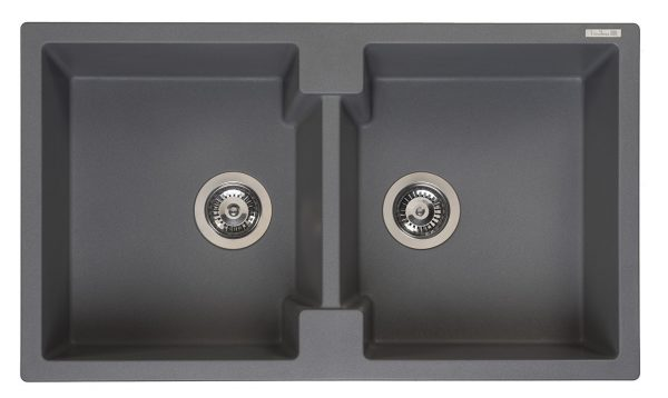 Reginox Amsterdam 20 Grey Silvery R31018 Dubbele Spoelbak Graniet Opbouw Of Onderbouw