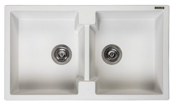 Reginox Amsterdam 20 Pure White R30998 Dubbele Spoelbak Graniet Onderbouw Of Opbouw