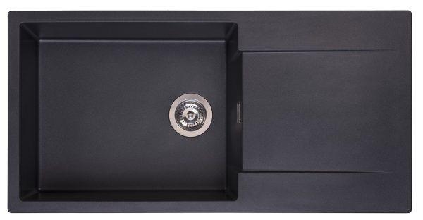 Reginox Amsterdam 540 Black Silvery R30806 Spoelbak Graniet Opbouw