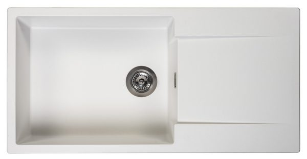 Reginox Amsterdam 540 Pure White R30790 Spoelbak Graniet Opbouw