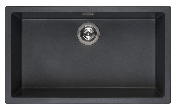 Reginox Amsterdam 72 Black Silvery R30882 Spoelbak Graniet Onderbouw Of Opbouw
