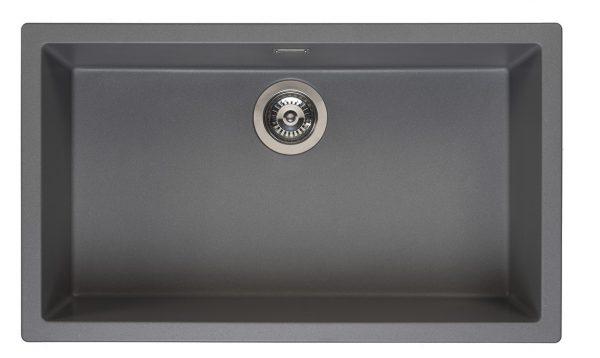 Reginox Amsterdam 72 Grey Silvery R30899 Spoelbak Graniet Onderbouw Of Opbouw