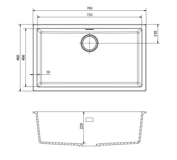 Reginox Amsterdam 72 Pure White R30875 Spoelbak Graniet Onderbouw Of Opbouw