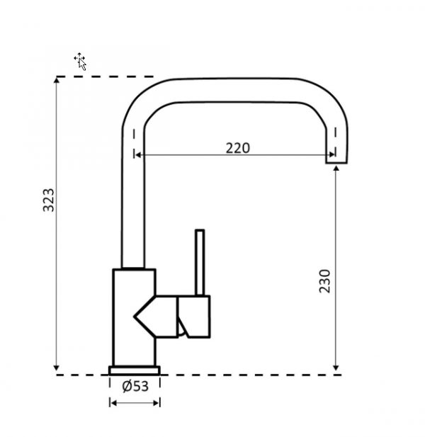 Reginox Crystal Gun Metal R30516 Keukenkraan
