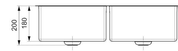 Reginox New York R28223 Dubbele Spoelbak 34 X 40 + 34 X 40 Vlakbouw Of Onderbouw