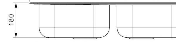 Reginox Centurio 30 Rvs Dubbele Spoelbak Opbouw