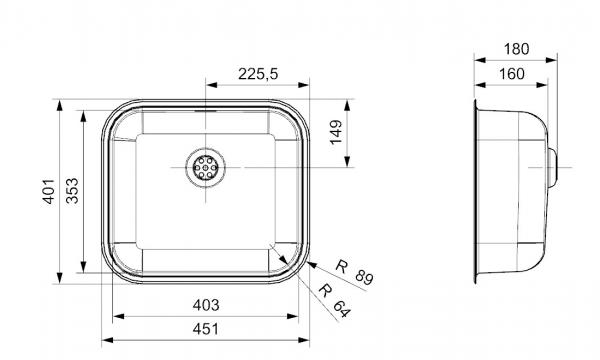 Reginox Colorado Comfort Rvs Spoelbak R24317 Opbouw