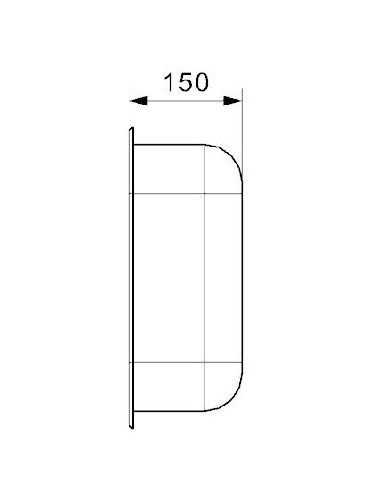 Reginox 40 X 35 Rvs Spoelbak Opbouw
