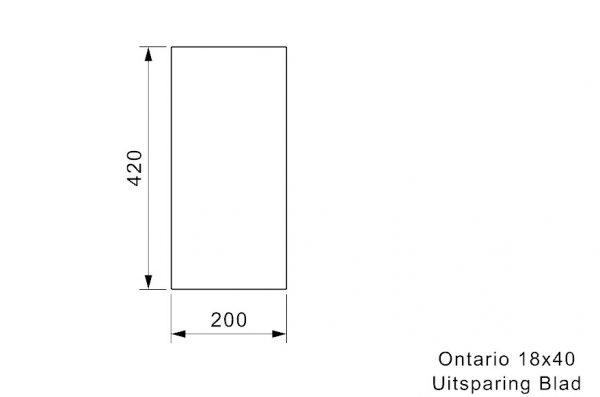 Reginox Ontario 18 X 40 Spoelbak Vlakbouw Of Onderbouw