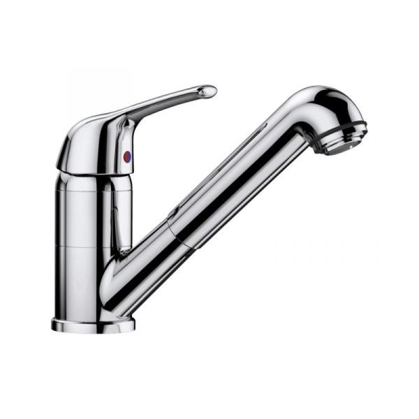 Blanco Vitis-S 516992 Eenhendel Keukenkraan Met Uittrekbare Handdouche Voor Lage Druk Chroom