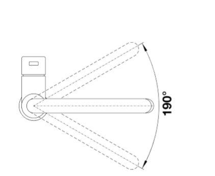 Blanco Candor-S 525125 Eenhendel Keukenkraan Met Uittrekbare Handdouche Voor Lage Druk Volledig Rvs