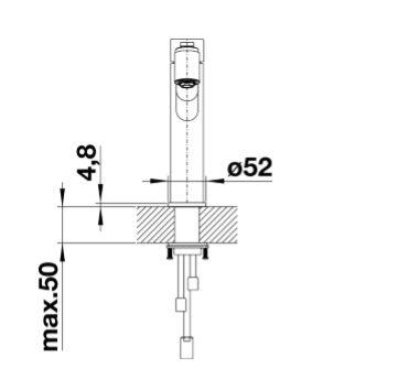 Blanco Ambis-S 525124 Eenhendel Keukenkraan Met Uittrekbare Handdouche Voor Lage Druk Volledig Rvs