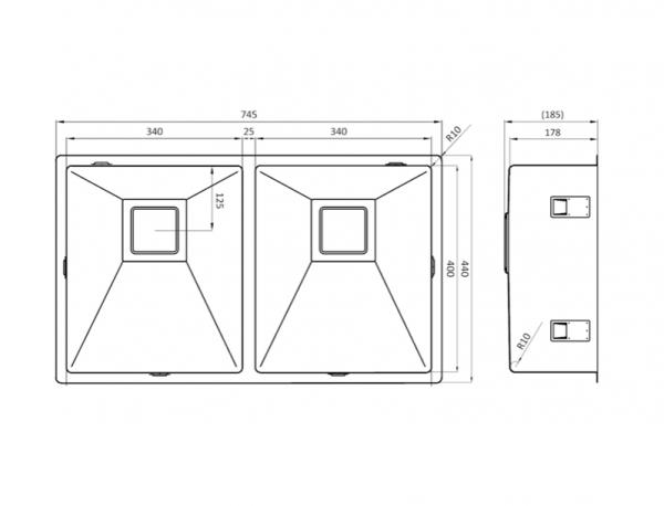 Lorreine 3434Vk-Clr-White Spoelbak Wit Met Kantelbare Korfplug Vlakbouw-Opbouw-Onderbouw