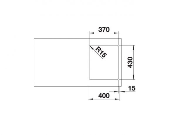 Blanco Zerox 340-If Durinox 523096 Spoelbak Rvs Vlakbouw Of Opbouw