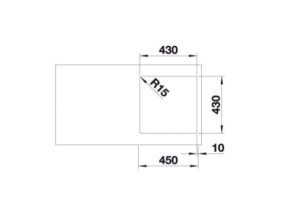 Blanco Zerox 400-If Durinox 523097 Spoelbak Rvs Vlakbouw Of Opbouw