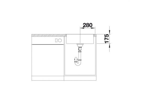 Blanco Zerox 500-If/a Durinox 523101 Spoelbak Rvs Inclusief Pushcontrol Bediening Vlakbouw Of Opbouw
