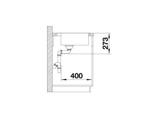 Blanco Zerox 400-If/a Durinox 523100 Spoelbak Rvs Inclusief Pushcontrol Bediening Vlakbouw Of Opbouw