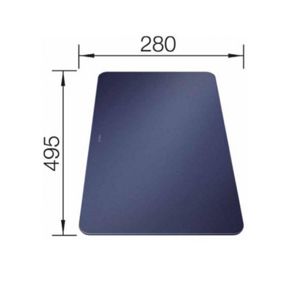Blanco 232846 Universeel Glassnijplank Nachtblauw