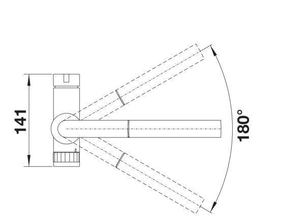 Blanco Evol-S Volume 525213 Nieuwste Gadget Geen Maatbeker Nodig Eenhendel Keukenkraan Hendel Links Met Uittrekbare Handdouche Volledig Rvs