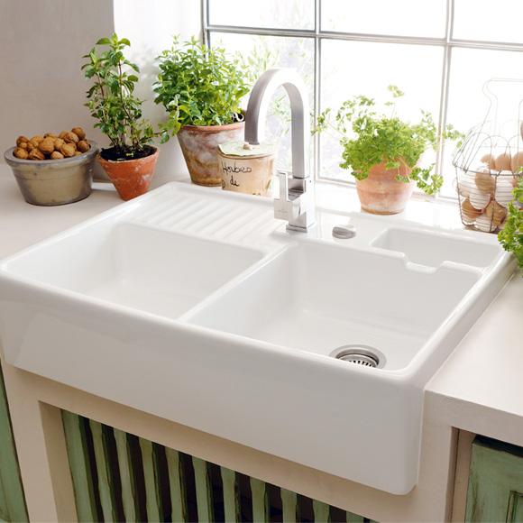 Villeroy & Boch 632391R1Hl1 Dubbele Spoelbak Keramiek Wit Opbouw Aanbieding!!