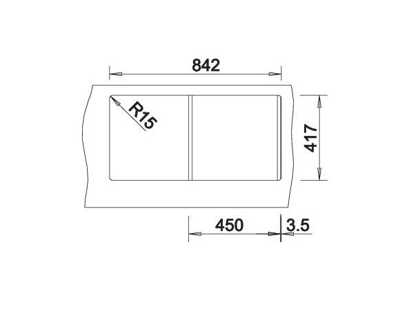 Blanco Flex 511917 Spoelbak Rvs Omkeerbaar Opbouw
