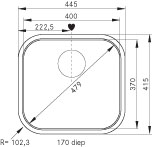 Franke Quadrant Qax 610 Rvs Spoelbak Opbouw 101.0281.246