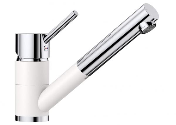 Blanco Antas-S 515350 Eenhendel Keukenkraan Met Uittrekbare Handdouche Silgranit Look Wit