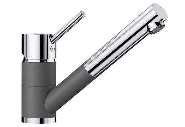 Blanco Antas-S 518794 Eenhendel Keukenkraan Met Uittrekbare Handdouche Silgranit Look Rotsgrijs
