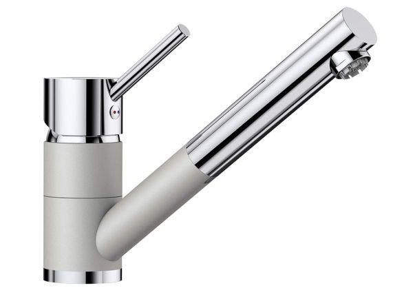 Blanco Antas-S 520734 Eenhendel Keukenkraan Met Uittrekbare Handdouche Voor Lage Druk Silgranit Look Parelgrijs
