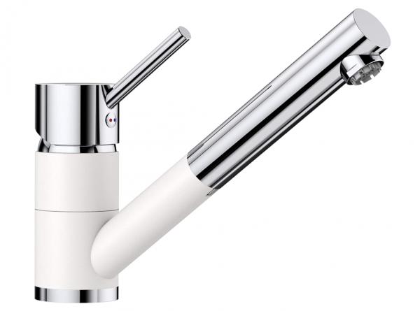 Blanco Antas-S 516766 Eenhendel Keukenkraan Met Uittrekbare Handdouche Voor Lage Druk Silgranit Look Wit