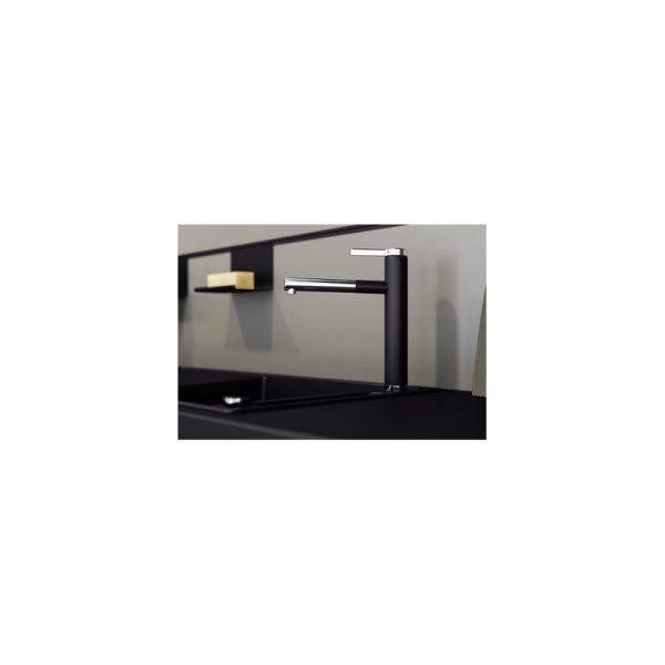 Blanco Linee-S 526171 Eenhendel Keukenkraan Silgranit Zwart Met Uittrekbare Handdouche Nieuwste Collectie Black Line