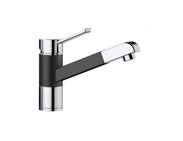 Blanco Zenos-S 526165 Eenhendel Keukenkraan Silgranit Zwart Met Uittrekbare Handdouche Nieuwste Collectie Black Line